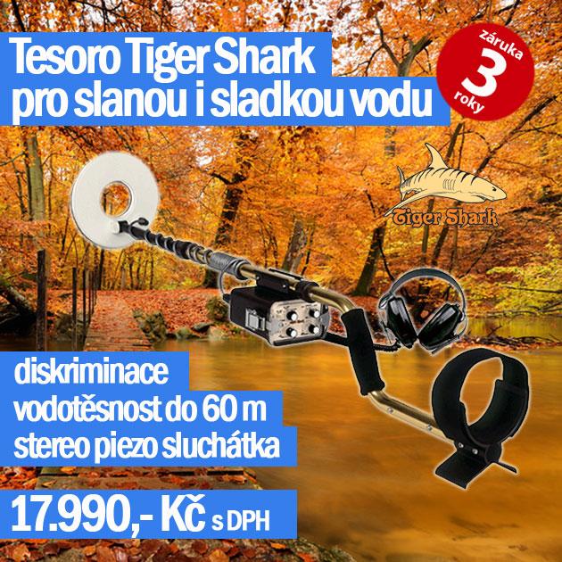 Detektor kovu Tesoro Tiger Shark podzimní akce