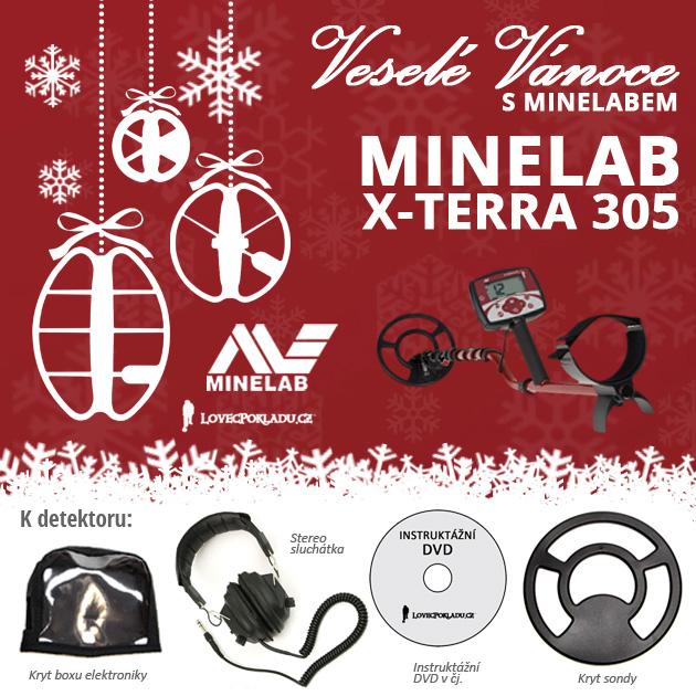 Detektory kovů Minelab ve vánoční akci - X-Terra 305