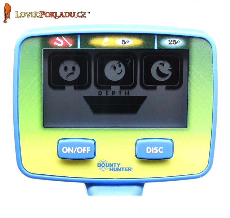 Dětský detektor kovů Bounty Hunter Junior Target ID - displej