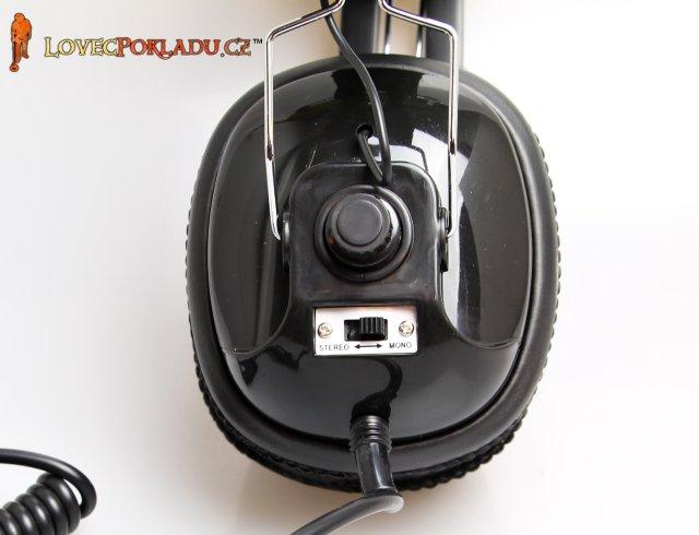 Sluchátka Bounty Hunter - přepínání stereo / mono