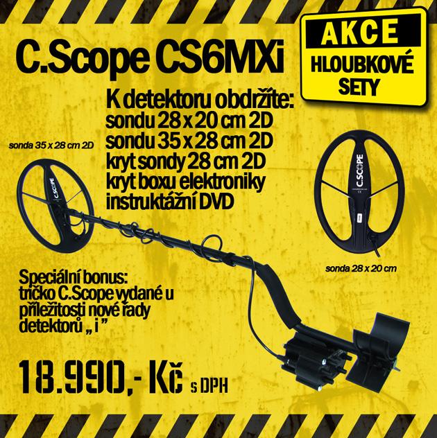 Podzim začíná s detektory kovu C.Scope a testem nové 36cm 2D sondy