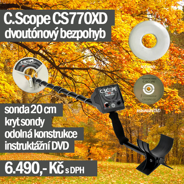 Detektor kovů C.Scope CS770XD
