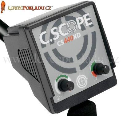 Nový box elektroniky v černé barvě detektoru kovů C-Scope CS440XD