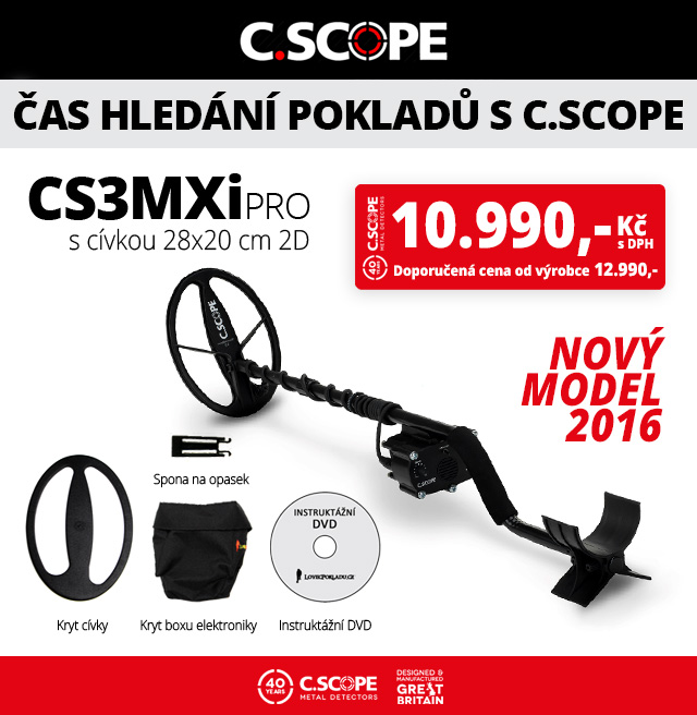 Detektor kovů C.Scope CS3MXi