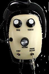 Sluchátka pro detektory