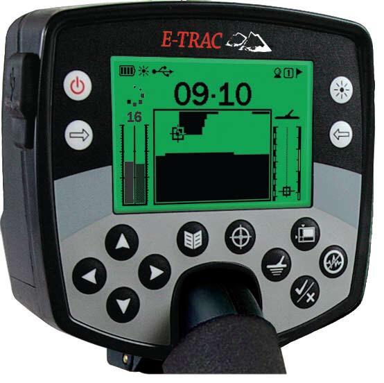 Box elektroniky detektoru kovů Minelab E-Trac