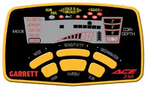 ACE-250 ovládací box detektoru kovů Garrett