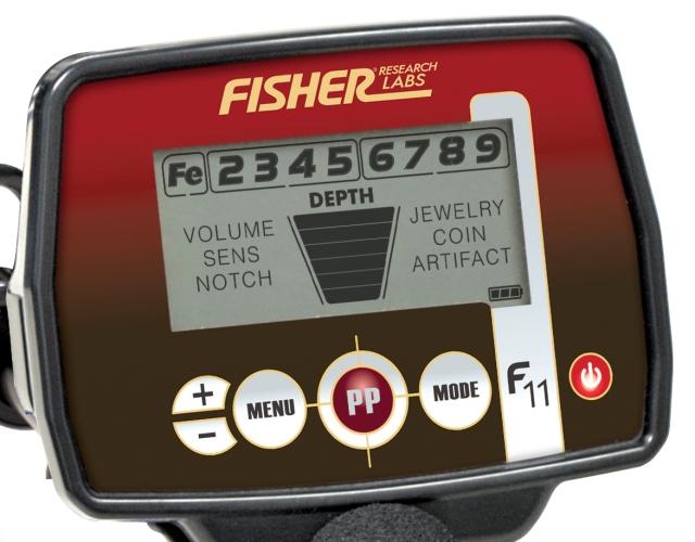 Box detektoru kovů Fisher F11