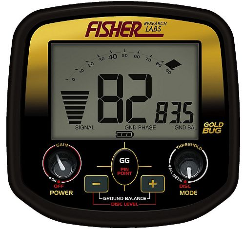 Detektor kovu Fisher Gold Bug box elektroniky
