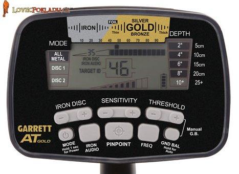 Ovládaci box detektoru kovu Garrett AT GOLD