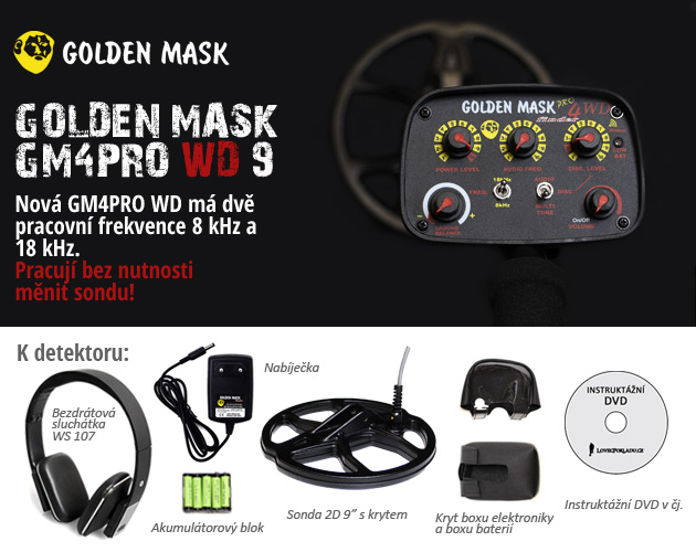 Detektor kovů Golden Mask GM4PRO WD