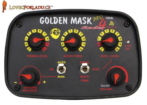 Ovládací panel detektoru kovů Golden Mask GM4PRO W