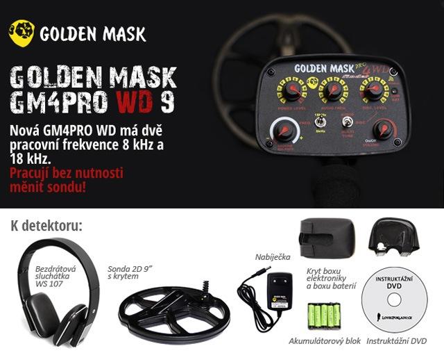 Nový detektor kovů Golden Mask GM4PRO WD