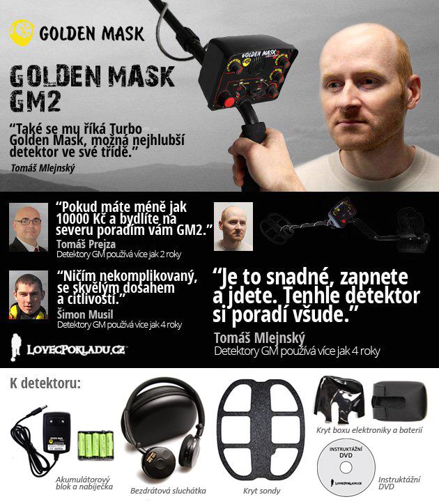 Detektor kovů Golden Mask GM2 W