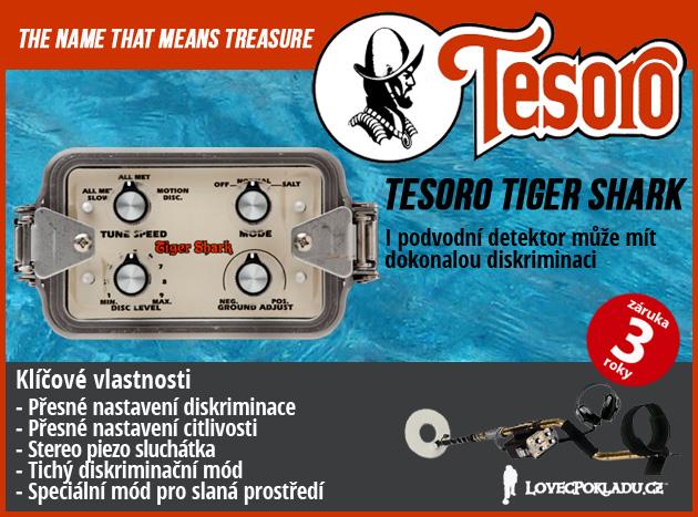 Detektor kovů Tesoro Tiger Shark podzimní akce