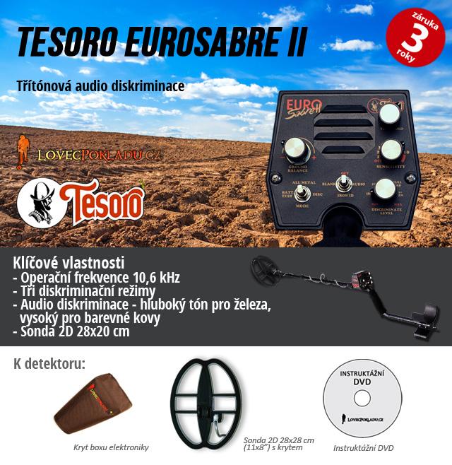 Detektor kovů Tesoro EuroSabre II