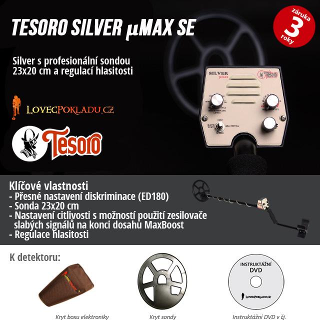 Detektor kovů Silevr uMAX od společnosti Tesoro