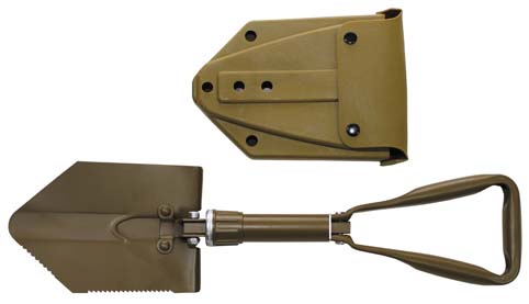 Vojenská skládací lopatka BW - NOVÁ - coyote tan