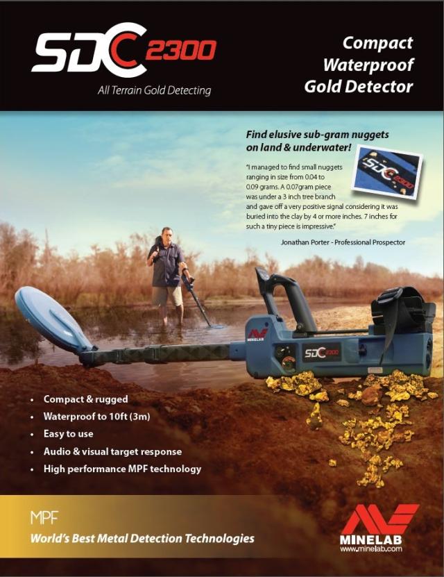 Katalog detektoru kovů SDC 2300 volně ke stažení ve formátu PDF