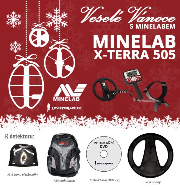 Detektory kovů Minelab ve vánoční akci - X-Terra 505
