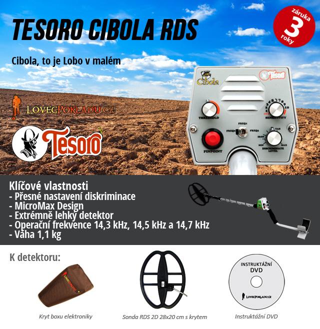 Detektor kovů Tesoro Cibola RDS