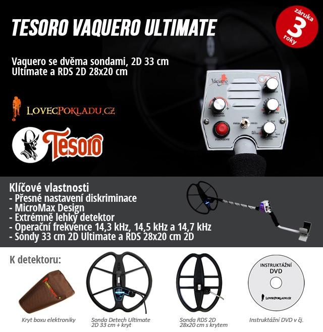 Detektor kovů Tesoro Vaquero Ultimate